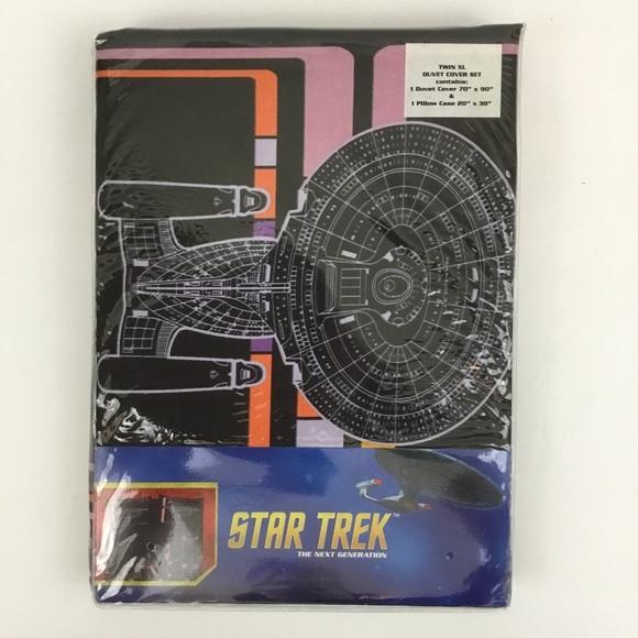 Star Trek TNG Enterprise Computer Interface Bedding Duvet Cover Pillowcase QUEEN